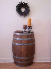 Half French Wine Barrel Foyer-Accent Table-Wine Cellar Decor