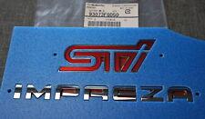 Genuine Subaru IMPREZA STI Rear Trunk Self-adhesive Badge Emblem 2008-14 WRX STI