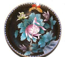 ANTIQUE CHINESE CLOISONNE ENAMEL INLAY BRASS BOWL MINT CONDITION WORK OF ART J4U