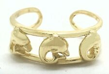 Yellow Gold * Price Reduced * Jumping Dolphins Toe Ring 14k Solid