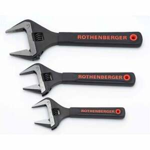 "Rothenberger Wide Jaw Wrench Adjustable Spanner Plumbing Jaw Protectors 4""- 10"""