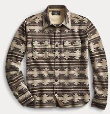 $795 RRL Ralph Lauren Wool Cashmere Serape Inspired Over Shirt-MEN- L