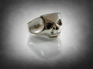 Johnny Depp SKULL RING  solid sterling silver 925
