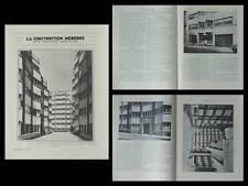 CONSTRUCTION MODERNE 1934 PARIS, 11 PLACE CHERIOUX, HENNEQUET, DEFENSE PASSIVE
