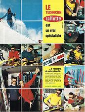 PUBLICITE  1973   LA HUTTE  magasin de sports  RENE SULPICE le technicien DE SKI