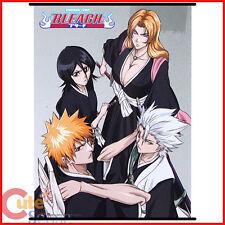 Bleach Wall Scroll Anime Poster Group Ichigo Toshiro Rangiku Rikia (GE5875)