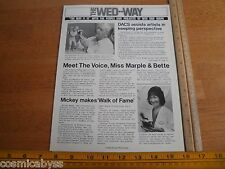 Disney The WED Way MAPO Employees mag 1978 Sculptor George Snowden EPCOT DACS