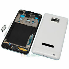 New White Full Housing Cover + Frame + Button For Samsung Galaxy S2 I9100