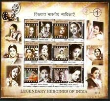 India 2011 estampillada sin montar o nunca montada SS, el legendario heroínas de cine indio, películas, Proyector