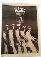 RUBETTES 'We Can Do It' 1975 UK Poster size Press ADVERT 16x12 inches