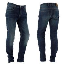 Pantalones de textil de color principal azul de cordura para motoristas