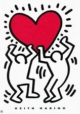 Keith Haring Lithograph Estate Poster Heart 24 x 34