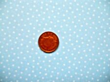 POWDER BLUE WITH 3mm WHITE STARS - 100% COTTON FABRIC FQ.'S