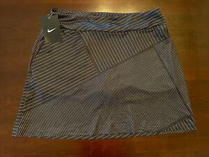 "Small - Nike Women's 16.5"" Stripe Golf Skort 929861 010 Black White Greens"