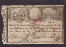 Portugal 10,000 Reis 1798  P-28  VG