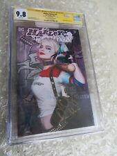 Margot Robbie Autographed Harley Quinn #75 CA Exclusive Photo Cover CGC SS 9.8