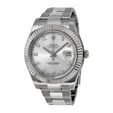 Rolex Mens Datejust II Automatic Oyster Bracelet 18K Swiss M3ade Watch 116334SDO