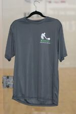 Racquetball Dry Fit T Shirt in Charcoal / Green by A-4 Mens size Medium Tshirt