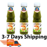 3x Healthy Boy Seafood Dipping Sauce Thai Cuisine Chilli Lime Spicy Sour 165 g.