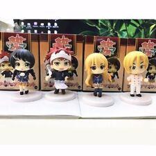Food Wars Shokugeki no Soma 4pcs Mascot Completed PVC Figure Without Box Set