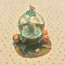 Retired Disney Dumbo Snow Globe Music Box 28566 Blowing Bubbles Working Rare HTF