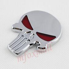 Auto Accessories Chrome 3D Emblem Badge Pirate Skull Head Symbol Sticker Decal