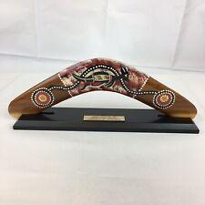 Boomerang Painted By Aboriginal Artist Gerald McGregor Queensland Australia