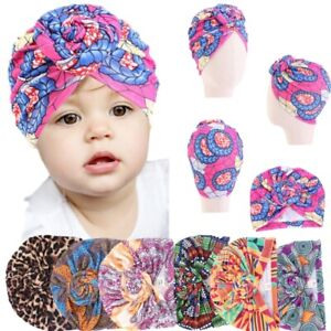 Fashion New Children's Cap Baby Print Turban Cap knotted Cap Multi-color Cute