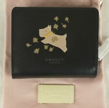 "Radley ""Autumn Days"" Black Leather Tab Wallet Purse Medium New"