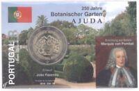 2 Euro Coincard / Infokarte Portugal 2018 Botanischer Garten Ajuda