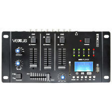 Vexus 4-Channel Compact DJ Mixer with Bluetooth an built-in USB Player