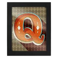Letter Q Jigsaw and Frame from the Ridley's Range by Wild & Wolf