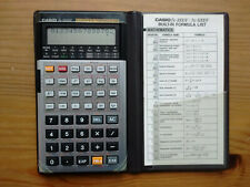 CASIO FX-5000F Scientific Formula 128 Calculator with Jacket & Reference Card