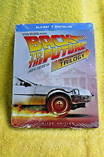 New/Sealed Set! Back To The Future 30Th Ann. Trilogy Lmtd Ed. Steelbook Blu + Hd