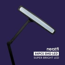 """Neatfi Elite Hd Xl Task Lamp with Clamp, 22.8"""" Wide, 1360 Lumens, 84Pcs Smd Led,"""