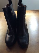 Gap Leather Balck Ankle Boots Size 38 Very Good Condition
