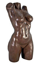"""Athletic Nude Naked Female Body Torso Statue Sculpture 16.5"""""""