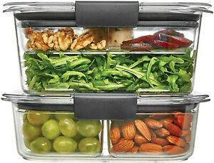 Rubbermaid Brilliance Food Storage Container, Salad and Snack Lunch Combo Kit