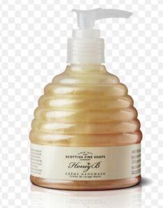 2 Bottles 600ml Scottish Fine Soaps Honey B Cream Hand wash 300ml Each Pump