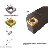 Einsteigerpaket SCLCR inkl. je 2x CCGT für Alu & CCMT für Stahl
