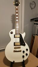 More details for epiphone les paul custom electric guitar - alpine white