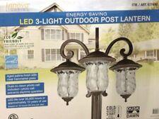 Innova Lighting 3 Light Outdoor LED Lamp Post Lantern Yard Garden Landscape