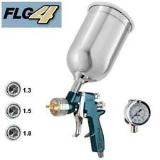 Finishline Devilbiss 4 HVLP Paint Gun Gravity Feed Solvent Based Spray 3 Tips