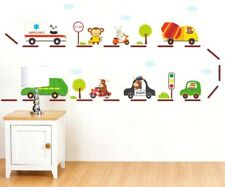 Vehicle Ambulance Police Car Wall Decal Stickers Nursery Childs Bedroom Playroom