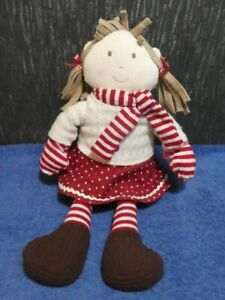 SOFT RAG DOLL WITH RED OUTFIT FROM MAMAS & PAPAS