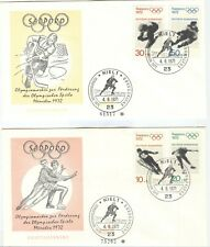 Germany Olympic Games Sapporo 1972 FDC with set out the bloc with cancel Kiel 1