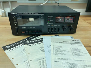 Hitachi D-220 Kassettendeck Tape Deck Cassette Recorder in schwarz