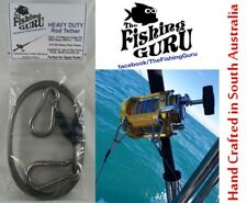 HEAVY DUTY ROD TETHER - Stainless Steel (Made in South Aus) for GAME FISHING