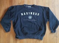 Vintage 1990s SEATTLE MARINERS mlb baseball dark navy / black SWEATSHIRT XL