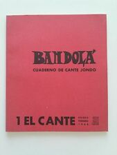 1969 Bandola Cuaderno de Cante Jondo 1 El Cante Enero Febrero, Peña Juan Breva